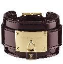 Louis Vuitton紫色亮皮宽手镯
