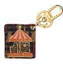 Louis Vuitton橘色旋转木马系列钥匙扣