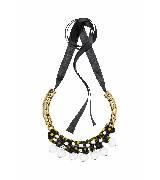 MARNI玛尼彩色树脂花瓣串珠项链
