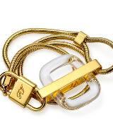 Roger vivier金色锁扣手链