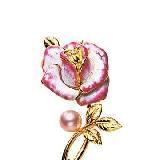 Mikimoto玫瑰胸针