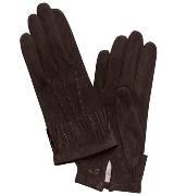 Longchamp珑骧咖色羊绒手套