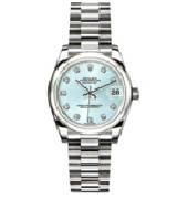 劳力士(Rolex)日志型178246 冰蓝色镶钻