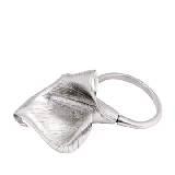 Yves Saint Laurent银色百合花手镯