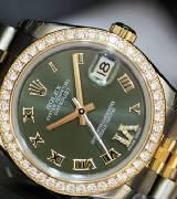 劳力士(Rolex)女装日志型31 178383 绿色镶钻腕表