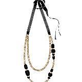 MARNI玛尼黑色坠珠项链