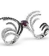 德米亚尼Damiani撞色钻石戒指