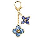 Louis Vuitton蓝色花朵形状包饰