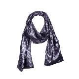 Marc Jacobs紫色锦缎围巾
