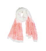 Kookai蔻凯亚麻条纹围巾