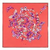 Loewe罗意威蝴蝶纹样方形丝巾