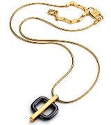 Roger vivier金色单锁扣项链