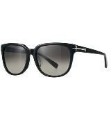 CK Calvin Klein黑色复古方框眼镜