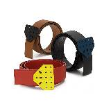 Loewe罗意威红黄设计腰带