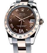 劳力士(Rolex)女装日志型31 178341 玫瑰金镶钻腕表