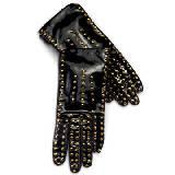Roger vivier黑色漆皮手套