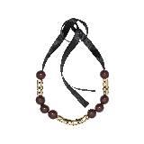 MARNI玛尼咖啡色树脂串珠项链