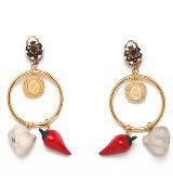 Dolce & Gabbana金属铜环耳环