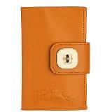 Longchamp珑骧橘色皮革记事本