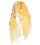 Kookai蔻凯黄白渐变印花亚麻围巾