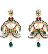 Dolce & Gabbana彩色水钻耳环
