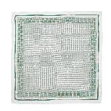 Celine赛琳2013春夏绿色网格纹方巾
