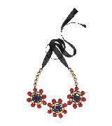 MARNI玛尼彩色串珠花朵项链