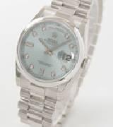 劳力士(Rolex)星期日历型118206 冰蓝纹盘
