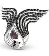 德米亚尼Damiani钻石黑色戒指