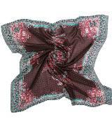 Kookai蔻凯红色印花方巾