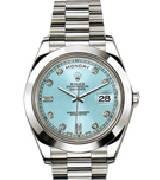 劳力士(Rolex)星期日历型218206 冰蓝盘镶钻