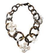 普拉达(Prada)2013年Donna系列琥珀色环花朵项链