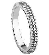 德米亚尼Damiani钻石银色戒指