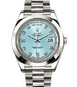 劳力士(Rolex)星期日历型218206-83216蓝色罗马时标