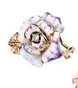 Mikimoto玫瑰耳环