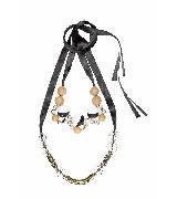 MARNI玛尼透明串珠配金属项链