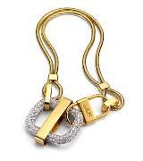 Roger vivier金色锁扣腰带