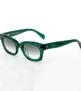 Celine赛琳2013春夏墨绿色透明粗边框太阳镜