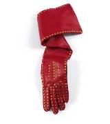 Roger vivier红色牛皮手套