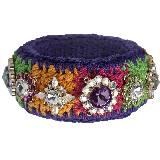 Moschino多彩编织彩色宝石手镯