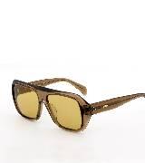 Celine赛琳2013春夏棕色透明直边框太阳镜