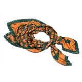 Kenzo橙色条纹印花方巾