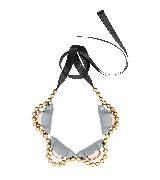 MARNI玛尼金色串珠多边形项链