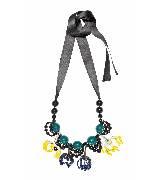 MARNI玛尼彩色花簇串珠项链