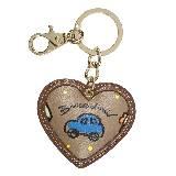 Braccialini TEMINI系列棕色心形钥匙扣