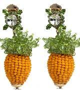 Moschino黄色串珠镶宝石耳饰