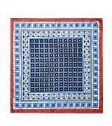 MARNI玛尼蓝色印花丝巾
