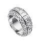 Piaget伯爵钻石白金指环