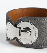 拉夫·劳伦Ralph Lauren金属扣饰灰色手环