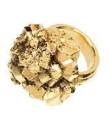 Yves Saint Laurent做旧金色戒指